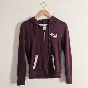 Victoria's Secret PINK Half-Zip Hooded Sweatshirt